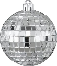disco ball ornament in shop holiday | CB2