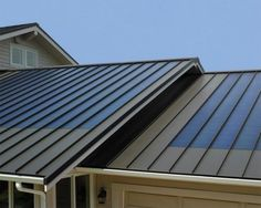 Solar metal roof. Blends right in.