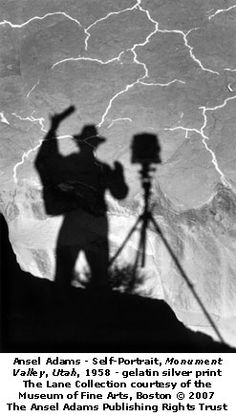 Ansel Adams does it too.