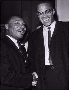 Malcom X and MLK, jr.