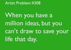 i am demotivated easily, yet i want to draw something. yeah.