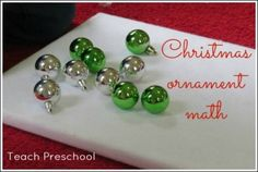 Christmas ornament math by Teach Preschol