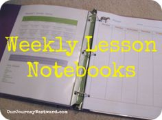 Weekly Lesson Notebo