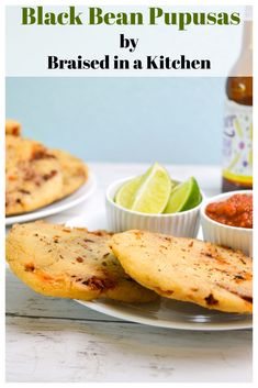 Black Bean Pupusas by Braised in a Kitchen - delicious and easy, perfect for a weeknight dinner! #pupusa #blackbean #vegetarian #meatlessmonday #dinner #recipe #weeknight