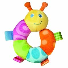"""Taggies 5"""" Colors Rattle, Cutsie Caterpillar by Mary Meyer. $7.78. From the Manufacturer                Whether for your own little one or to give as a gift, Mary Meyer's Taggies are a perfect choice. Taggies have looped ribbons all over, babies can seek and find them from any position or angle. With every new year, Mary Meyer learns what parents and babies adore about their Taggies. We continue to offer the most popular Taggies, while also taking what we have learned an..."""