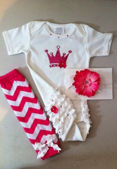 Baby Daddys Little Girl Princess Outfit Crown Onesie by solcreator, $32.00