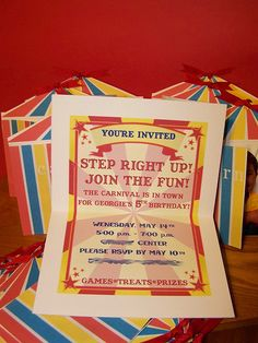 carnival invite idea