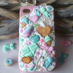 Iphone Case 4/4S decoden #pastel #candy #sweet www.sowcute.nl