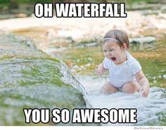 laugh, waterfalls, stuff, funni, babi, awesom, smile, kid, thing