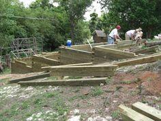 sloped raised garden