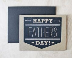 Father's Day Arrows Card Screenprinted by sassandperil on Etsy