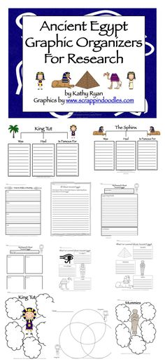 This packet contains everything you need to help your students with informational reading and writing about Ancient Egypt.  There are over 50 differentiated graphic organizers and writing templates for students to use while they are studying Ancient Egypt.