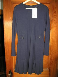 NWT Marimekko Amelie 1 dress, navy wool dress, Size L, very cute!! #Marimekko