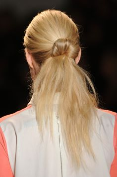 With Doughnut Ring Ponytail Hair Style Trend for Spring Summer 2013.  Lela Rose Spring Summer 2013.   #hair #trends