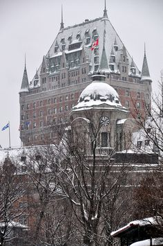Christmas in Le Château Frontenac, Quebec, Canada