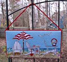 Cooper Oaks Painted Canvas Needlepoint.