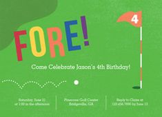 Darling Golf Birthday Invitation that you can customize