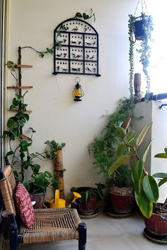 Balcony garden on pinterest roof gardens small for Balcony decoration ideas india