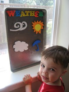 Magnetic Weather Station - great way to start getting kids to think about science