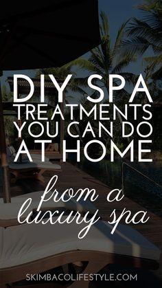 DIY spa treatments y