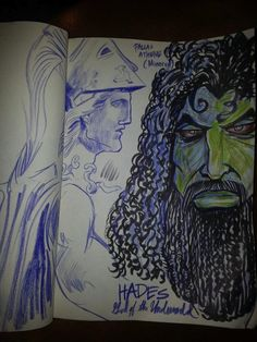 """[Seen on Twitter] Author Nicole Walters working with illustrator Vincent Conard >>> """"Making it my business to re-imagine Greek mythology."""""""