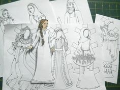 jewish #ruth #paperdolls #craft #project #shavuot www.DenaAckerman.com