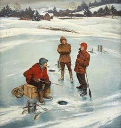 Winter Scene for Goodyear Tire - John Philip Falter