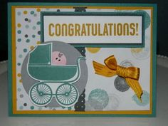 Something for Baby stamp set along with matching Baby's First Framelit Die from Stampin' UP!
