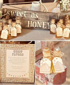 sweet as honey... going to do this with local raw honey and mini mason jars.