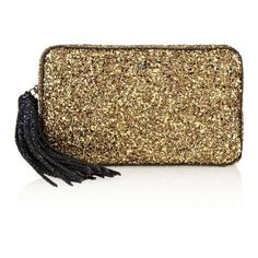 Anya Hindmarch Twinkle glitter-finished clutch found on Polyvore