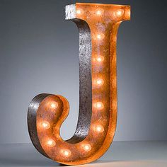 """""""J"""" Marquee Light, $159, now featured on Fab."""