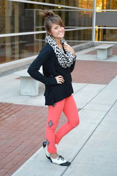 Bright Jeggings + Neutral