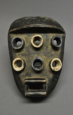 Africa | Mask from the Grebo people of Liberia | Wood with pigment