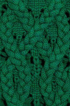 Tejido en verde esmeralda