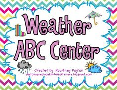 Weather ABC Order Freebie