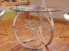Manualidades y Artesanías | Mesa con rueda de bicicleta | Utilisima.com