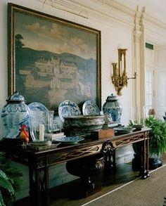oscar and annette de la renta home chinese blue white porcelain