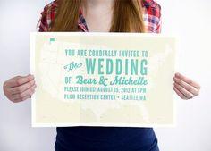 Over-sized Wedding Invitation #invites