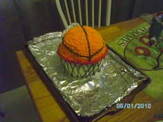 Basketball cake. Used a large cupcake pan