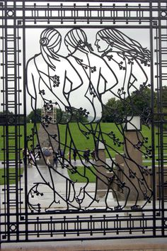 Gate to Vigeland Sculpture Park in Oslo, Norway.