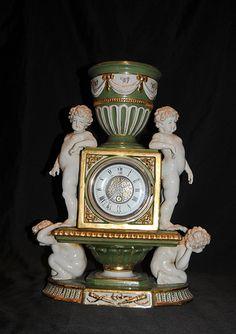 Sevres Porcelain Cherub Clock