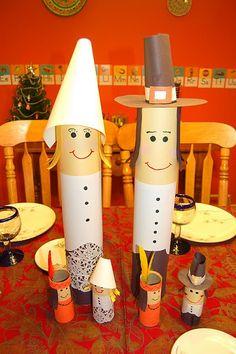 Cute Pilgrims | Cute pilgrim craft | Thanksgiving/Fall Kids Crafts