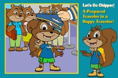 Let's Fly Chipper ($0.99) playfully teaches kids about what to pack, going through security in the airport, and how to be a respectful passenger.   The positive storytelling offers parents a reinforcement tool for teaching good manners and social skills. Animated educational story  Watch, listen, and learn playfully  Pause control  Easy slide and tap for little hands   Supports early education for social skills, arts & literature and science  Bonus Coloring pages