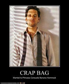 First name Crap, last name Bag.