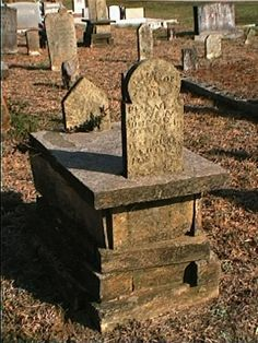 Slot and tab tombs are an oddity found primarily in North Ga mountain cemetaries