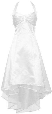 Satin Halter Dress Tulle Mini Train Prom Bridesmaid Holiday Formal Gown Junior Plus Size --- http://www.pinterest.com.gp1.me/hx