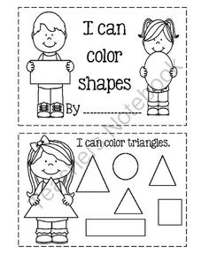 I Can Color Shapes from Angie's  Page  For Young Learners on TeachersNotebook.com -  (5 pages)  - Shape Book