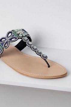 Anthro mint sandals