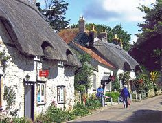 Stone & thatch cottages, Isle of Wight