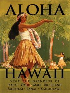 Aloha Hawaii Custom Sign ~ Hula Girl & Hawaiian Islands